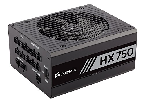 Corsair HX Series HX750 750 W 80 Plus Platinum Full Modular 1 x 135 mm Fan ATX Power Supply Unit -...