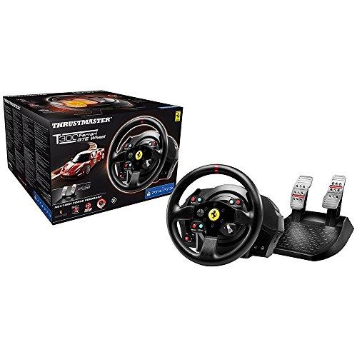 Thrustmaster T300 FERRARI GTE - Volante - PS4 / PS3 / PC - Force Feedback - Replica Ferrari 458 Challenge - Licencia Oficial Ferrari
