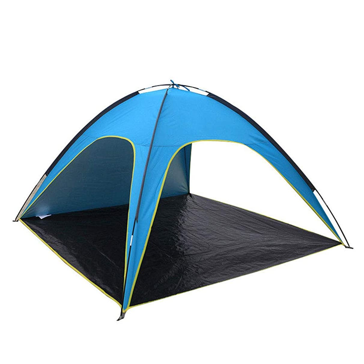 WE&ZHE Outdoor Folding Telescopic Sunscreen Canopy - Beach Tent Sun Shelter and Lightweight Sun Shade Tarp for Camping Family Picnic, Waterproof and Windproof 3 Person-4 Person Tent