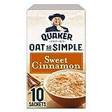 Quaker Oat So Simple Sweet Cinnamon 10 x 33g - Vollkorn Haferflocken mit Zimt -
