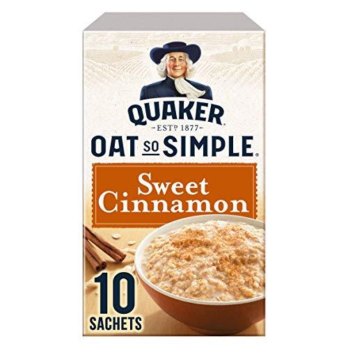 Quaker Oat So Simple Sweet Cinnamon 10 x 33g - Vollkorn Haferflocken mit Zimt