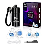 High Fidelity Concert Ear Plugs, Eargrace 2 Pairs Hearing Protection Noise Reduction Musicians