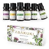 ASAKUKI Reine Ätherische Öle Geschenkset 6 x 10 ml, Natürlicher Lavendel, Eukalyptus,...