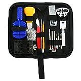 8MILELAKE 144Pcs Professional Watch Repair Kit Tools Spring Bar Watch Opener Link Remove
