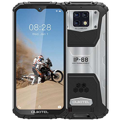 OUKITEL WP6【2020】, IP68 Outdoor Smartphone Ohne Vertrag, 10000 mAh Akku (18 W Schnellladung), 16 MP Quad-Kamera, Helio P60 4 GB + 128 GB, 6,3 Zoll FHD + Robustes Handy, DUAL SIM GPS WiFi Schwarz