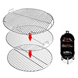 Uniflasy 7436 Upper Cooking Grate, 85041 Lower Grate, 63014 Charcoal Grate for Weber Charcoal Grill 22 Inch Smokey Mountain Cooker, 22' Charcoal Smoker Parts, 2 Cooking Grate and 1 Charcoal Grate