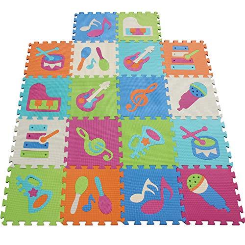 XMTMMD Life Soft Play Mats für Kinder Pure Colour EVA-Schaum Mats Spielmatte Ungiftig Krabbelmatte EVA-Schaum Bodenbelag jiasaw Matte Stylische Puzzlematte für Babys 18PCS AMT0909G3210