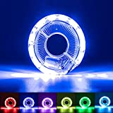Herefun LED Luces de Rueda de Dicicleta, USB Luces de Rueda de Bicicleta, Bicicleta de Rueda LED Impermeable para Paseo en la Noche para Accesorios de Bicicleta Luces (Luces)
