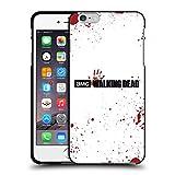 Head Case Designs Licenciado Oficialmente AMC The Walking Dead Blanco Sangre Logo Funda de Gel Negro Compatible con Apple iPhone 6 Plus/iPhone 6s Plus