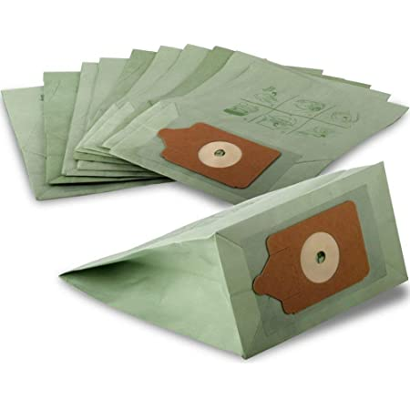 FindASpare Replacement Double Layer Paper Dust Bags for Numatic Henry Hetty Hoover Pack of 10