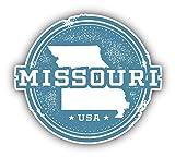 Missouri USA State Grunge Map Vinyl Sticker Car Bumper Decal