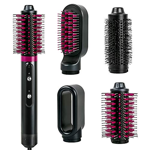 Hot Air Brush Set4 in 1 Hot Air Brushes with Interchangeable Brush HeadsNegative Ion Hair Curler Electric Blow Combofor Hair StraightenerampCurly Hair CombHair Dryer amp Volumizer