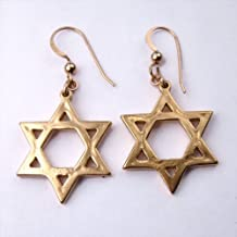 product image for Star of David Gold-dipped Earrings on French Hooks