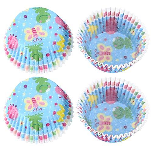Changor Copa de Pastel de Calidad alimentaria, Tazas de Pasteles Tazas para Hornear Tazas de Tazas facilitadas para Cupcakes