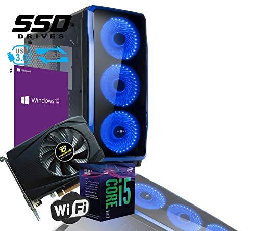 PC DESKTOP PROFESSIONAL MYKA CRISTAL ZAFIR INTEL i5-8400 Hexa-Core 8th Gen 2,8ghz 4,00ghz RAM DDR4 16gb SSD 480gb WIFI USB3.0 GEFORCE GTX1050Ti 4GB licenza Windows 10 professional Completo CG-C02B