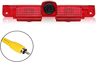 EWAY Third Brake Light Backup Rear View Camera Parking for Chevrolet Express/GMC Savana Vans 2500 3500 2003-2017 Night Vision Auto Car Safety Reversing Backing Camera with Removable Guideline
