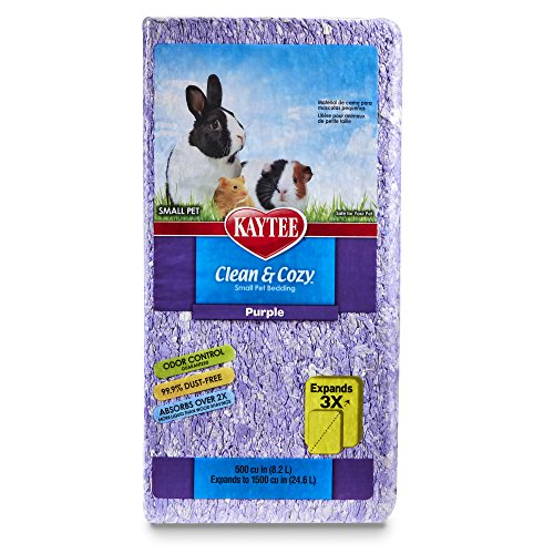 Kaytee Clean & Cozy Purple Bedding, 1500-Cubic-Inch