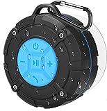 PEYOU Enceinte Bluetooth Portable,Étanche Haut-Parleur de Douche sans Fil IPX7 Parleur à Voix Haute stéréo de Bluetooth 4.2 avec Batterie 400mAh,Ventouse...
