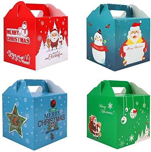 24 Cajas de Cupcakes Navideños, Bolsa de Regalo, Decoración para Fiestas, Caja...