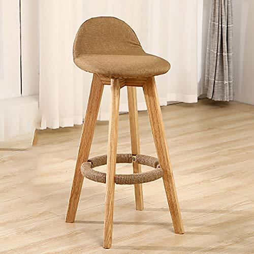 LRQHHZYQ houten barkrukken, barkrukken, vintage rustieke keukenbarkrukken, metalen frame en massief houten stoel industriële stijl