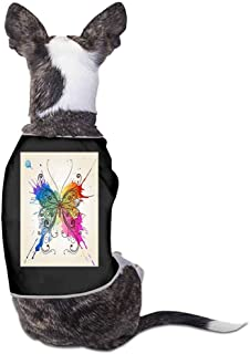 StyleDirect Dog Pajamas,Butterfly Print Pet Clothes Jumpsuit Pjs Apparel