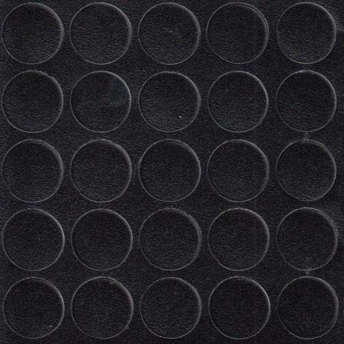 haggiy Selbstklebende Abdeckkappen für Möbel - Durchmesser 14 mm - 25 Stück - Möbelpflaster (Schwarz-Graphit)