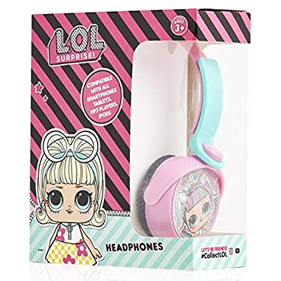 L.O.L. Surprise! Girls Headphones, Over Ear Headphones For Kids, Childrens Wired Headset for Travel from Paxos