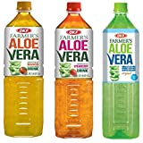 OKF Farmer's Aloe Vera Drink, Mango, Strawberry & Sugar Free, 50.7 Fluid Ounce (Pack of 12 each)