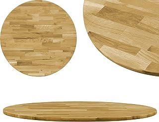 Festnight Dessus de Table Bois de Chêne Massif Rond pour Salle à Manger, Tables Basses, etc 23 mm 700 mm