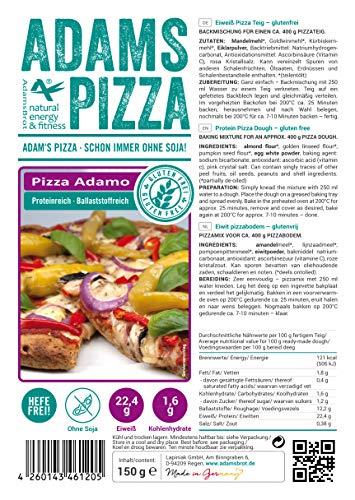 """Adams """"Pizza Adamo"""" glutenfrei - unsere neue Eiweiß Pizza Teig Backmischung (1)"""