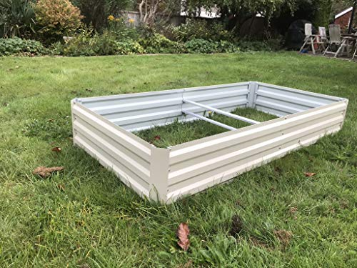 Raised Metal vegetable bed Planter Trough Garden Planter Flower Bed Plant...
