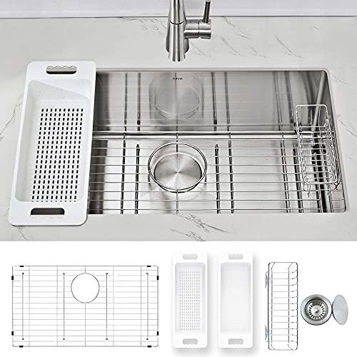 ZUHNE Modena Undermount Kitchen Sink Set, 16-Gauge Stainless Steel...