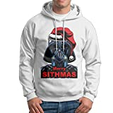 KIMBER Men Hoodie Merry Sithmas Darth Vader Crew Neck Long Sleeve Hoodieds White US Size L