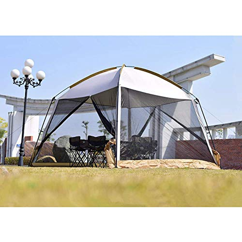 LLSS 33m Beach Tent Sun Shelter,Portable Camping Garden Gazebo with Sides Zippered Insect Mesh Door Waterproof Canopy