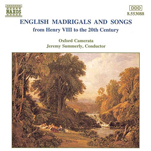 English Madrigals and Songs from Henry VIII to the 20th Century
