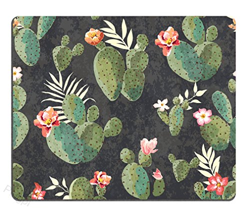 Pingpi Gaming Mouse Pad Custom,Vintage Cactus Mouse pad