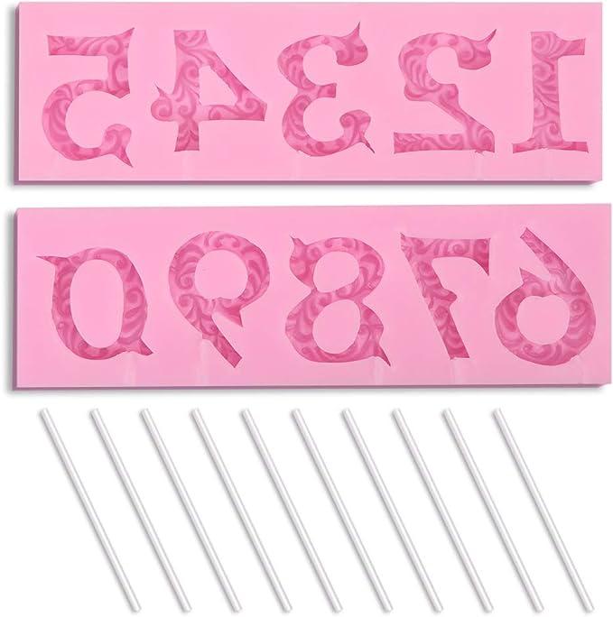 692 opinioni per homEdge- Stampo in silicone con numero 3D, per decorazione di torte, adatto per