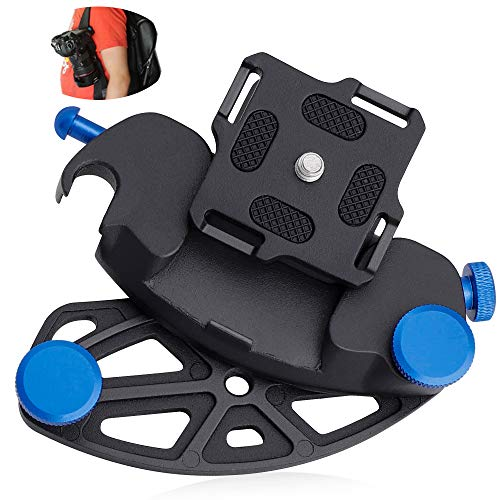 Cinturón de la Cámara Hebilla del cinturón de liberación rápida Aleación de Aluminio Ultraligero para Cámara Réflex Digital para Viajes, Deporte, Ciclismo, Senderismo, Entrenamiento de Campo