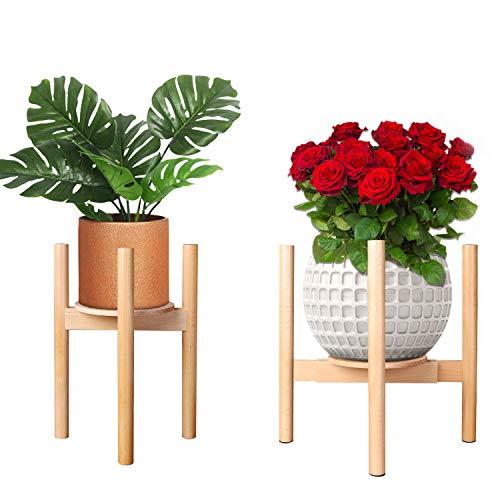 Soporte para Plantas Simplicity, Soporte para macetas de Madera Xoolover Mid Century, Soporte para Plantas en macetas, para Interior y Exterior, para decoración del hogar