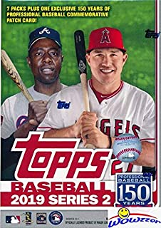 2019 Topps Series 2 MLB Baseball EXCLUSIVE Factory Sealed Retail Box with 98 Cards & SPECIAL MLB 150th Anniversary Commemorative PATCH! Loaded with Rookies & Inserts! Look for Autos & Relics! WOWZZER!