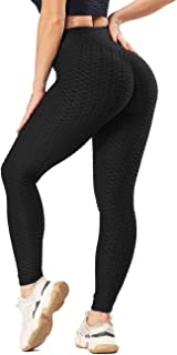 SEASUM Honeycomb High Waist Gym Leggings Women Slim Fit Scrunch Butt Lift Wrokout Yoga Pants Plus Size