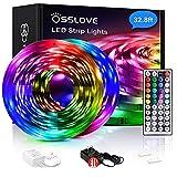 32.8ft Led Strip Lights, OSSLOVE 5050 RGB LEDs Color Changing Light Strips, Led Lights for Bedroom,...