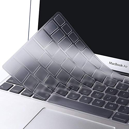 MOSISO EU/UK Keyboard Cover Compatible with MacBook Pro 13/15 Inch(with/without Retina Display Older Version), Older MacBook Air 13 Inch (A1466 / A1369, Release 2010-2017), Clear
