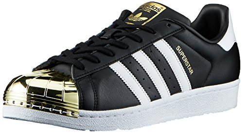 adidas Originals Damen Superstar Metal Toe Sneaker, Schwarz (Core Black/Footwear White/Gold Met,), 44 EU