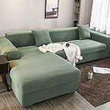 X-ZBS Funda de sofá Fundas de sofá elásticas en Forma de L Funda de sofá Universal (El sofá de Esquina en Forma de L Necesita Comprar Dos)