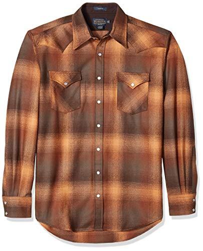 Pendleton Herren Big & Tall Long Sleeve Canyon Shirt Button Down Hemd, Braun/Orange Ombre, Mittel