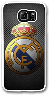 S6 Case, Galaxy S6 Case, Personalize Real Madrid Samsung Galaxy S6 Hard Plastic White Case Protection Shockproof Case Cover for New Galaxy S6 2015