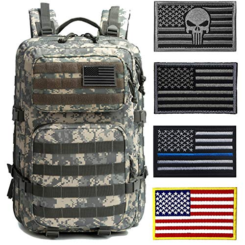J.CARP Military Tactical Backpack Large 3 Day Assault Pack Army Molle Bug Out Bag Backpacks - - Large