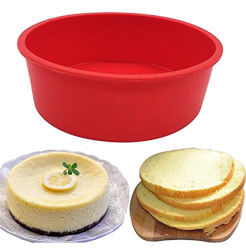 Moule en silicone à gâteau rond 17cm Moule à gâteau, sans BPA, antiadhésif European-grade Coque en silicone, 6,7x 5,5cm