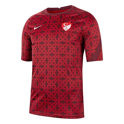 Nike 2020-2021 Türkei Pre-Match Training Fußball T-Shirt (rot) M rot